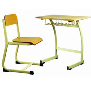 Modern Wooden Classroom Single Student Desk and Chair/School Furniture (FS-3218) pictures & photos