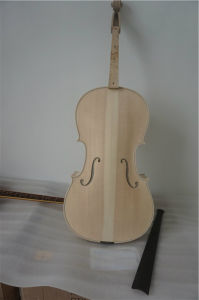 Unfinished Flame Maple Carvd Master Level White Cello pictures & photos