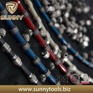 Fast Speed Marble Quarrying Diamond Spring Wire Saw pictures & photos