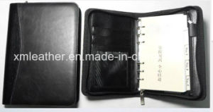 A5 PU Leather Zipper Filofax Organizer with Calculator pictures & photos