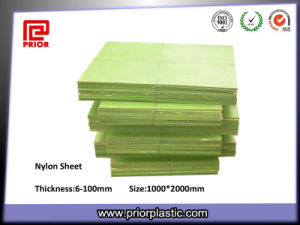 Cast Nylon Sheet with Self Lubricating Properties in Green Color pictures & photos