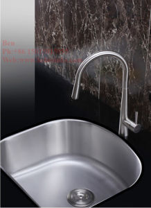 23-1/2X18-1/8 Inch Stainless Steel D Shape Under Mount Single Bowl Kitchen Sink pictures & photos