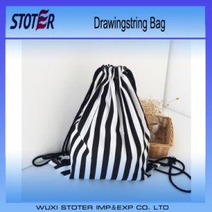 High Quality Custom Logo Print Nylon Polyester Drawstring Bag
