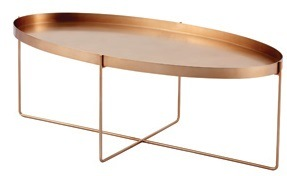 Light Gold Finish Ss 304 Coffee Tea Table with Toughened Glass pictures & photos