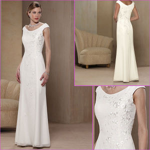 Wedding Party Dress on Dress Jeweled Embroidery White Chiffon Long Party Dress Wedding Formal