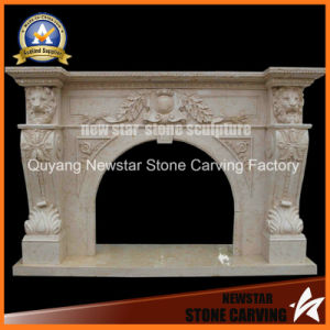 Marble Carving Fireplace Mantel Granite Fireplace pictures & photos