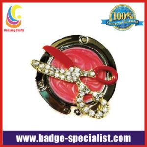 Customized Bag Hanger/Purse Hanger with Clear Stone