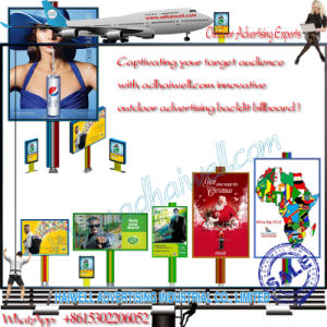 Double Support Column Outdoor Advertising LED Backlit Billboard pictures & photos
