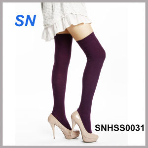 Winter Fashion Solid Color Thigh High Socks pictures & photos