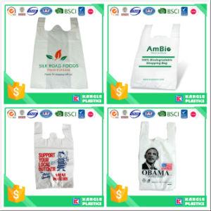 Recylcable Plastic T-Shirt Bag on Block pictures & photos