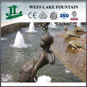 Musical Water Fountain with Marble Statue for Garden pictures & photos