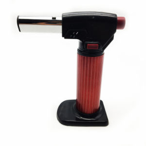 Standing Red Windproof Jet Flame Refillable Gas Torch Lighter (ES-TL-017) pictures & photos