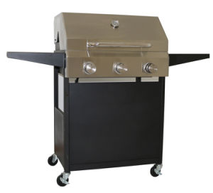 Gas Grill Foldable Side Shelves 3-Burner BBQ pictures & photos