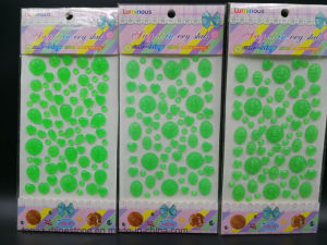 Bling Rhinestone Self Adhesive Sticker Glow in The Dark Luminous Sticker (TS-003 green) pictures & photos