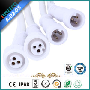 Wire Waterproof Small Connector 2 Pins --White Color