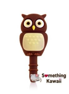 Brown Cute Owl Animal Silicone Anti Dust Plug