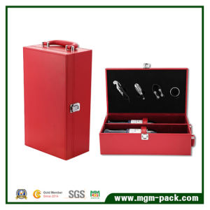 Custom Packaging PU Leather Gift Wine Box pictures & photos