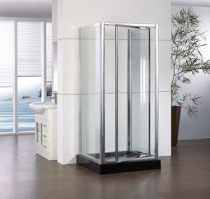 Corner Shape Tempered Glass Pivot Shower Enclosure Hf-Wap900