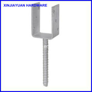Welded Galvanized Metal Pole Anchor Drop in Anchor for Timber Construction pictures & photos