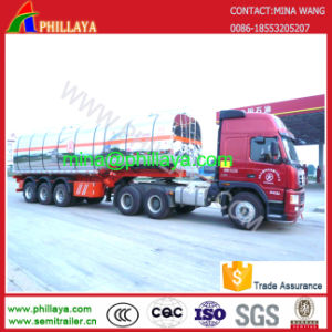 3 Axles Fuel Oil Stainless Steel Tank Truck Semi Trailer pictures & photos