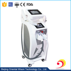 3 Handles E Light+Bipolar RF+ND YAG Laser Multifunction Beauty Machine pictures & photos