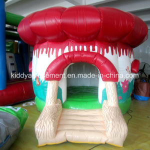 Small Inflatable Mushroom Bouncer for Kids Playground