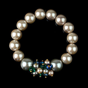 Wholesale Fashion Pearl Bracelets Druzy Charms Connector Bracelet