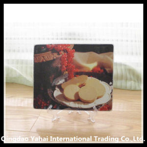 Customized Square Shaped Tempered Glass Chopping Board pictures & photos