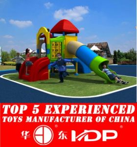 Plastic Playground a Children′s Slide Equipment (HD14-125B) pictures & photos
