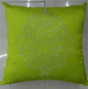 Hand-Made Decorative Pillow Diamond Ironing Decorative Cushion (XPL-51) pictures & photos