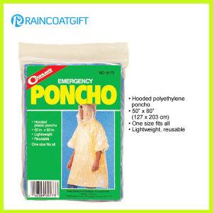Cheap Disposbale PE Rain Poncho Rpe-028 pictures & photos
