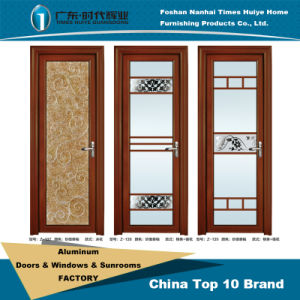 Sanded Thai Pomelo Surface Aluminium Casement Doors for Interior Decoration pictures & photos