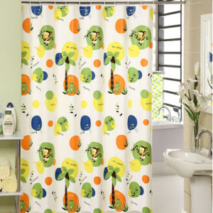 Printed Beautiful Satin Shower Curtain pictures & photos