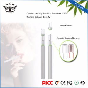 Hottest Stainless Steel D1 310mAh 0.5ml Glass Ceramic Atomizer Disposable EGO Pen pictures & photos