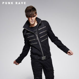 Handsome Punk Man Coat with Special Zipper (Y-560) pictures & photos