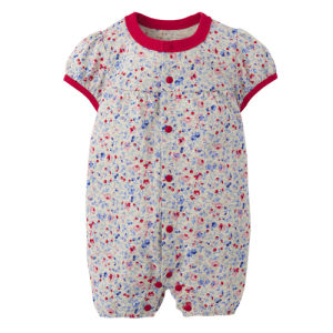 Spring Newest Printed Flowers Baby Girl Baby Bodysuit pictures & photos
