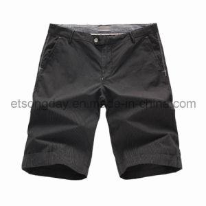 Light Black 100% Cotton Men′s Leisure Shorts (91U2531) pictures & photos