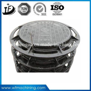 En124 Circule/Round Ductile/Cast Iron Sand Casting Manhole Cover (C250/D400/E600/F900) pictures & photos