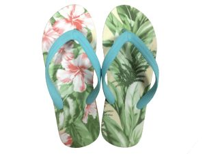 Heat Transfer Printing Women′s Slipper pictures & photos