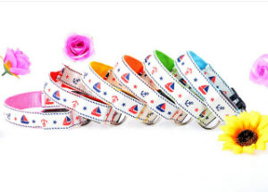 Durable Sailor Print USB Reacharegable Flashing Dog Collar