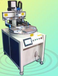 4 Stations Conveyor Servo Motor Semi Autoamtic Silk Screen Printing Equipment