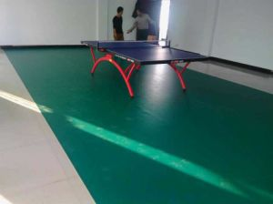 Ittf Certificate High Quality Cheap Indoor PVC Sports Roll Floor /Mat for Table Tennis 4.5 Thickness pictures & photos
