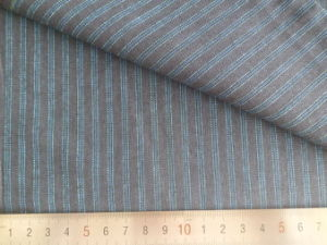 Blue/Charcoal Stripes 125GSM 100% Cotton Yarn Dyed Fabric pictures & photos