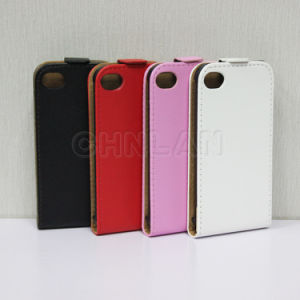 Wholesale High Quality Flip up and Down Double Bottom Leather Mobile Phone Case for iPhone 4G 4s