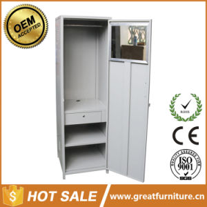 Home Living Room Furniture Metal Clothes Locker Single Door Steel Wardrobe pictures & photos