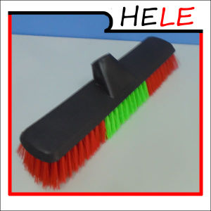 Bristle Brush, Cheap Plastic Sweeping Broom (HLB1126B) pictures & photos