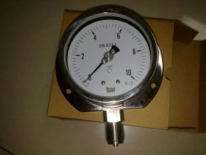 High Quality Stainless Steel 4 Inch Bellows Pressure Gauge Manometer pictures & photos