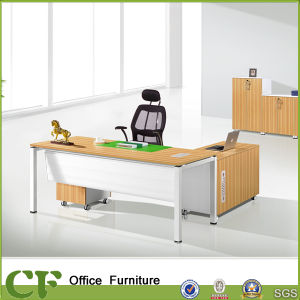 Steel Legs MFC Office Furniture Tables for Executives pictures & photos