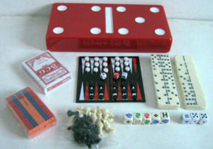 7 in 1 Game in Domino Shape Game Set,