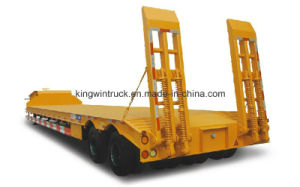Construction Machinery Transportation Two Axles Low Bed Semi Trailer pictures & photos